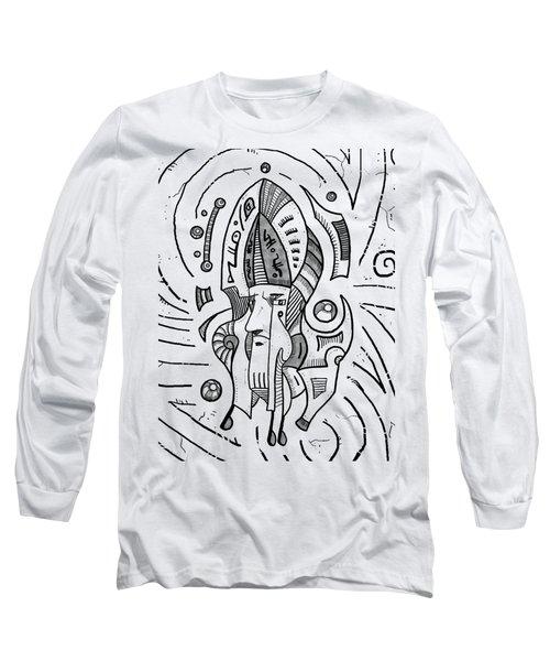 Surrealist Head Long Sleeve T-Shirt by Erki Schotter