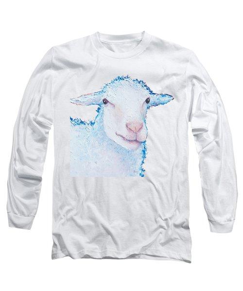 T-shirt With Sheep Design Long Sleeve T-Shirt by Jan Matson