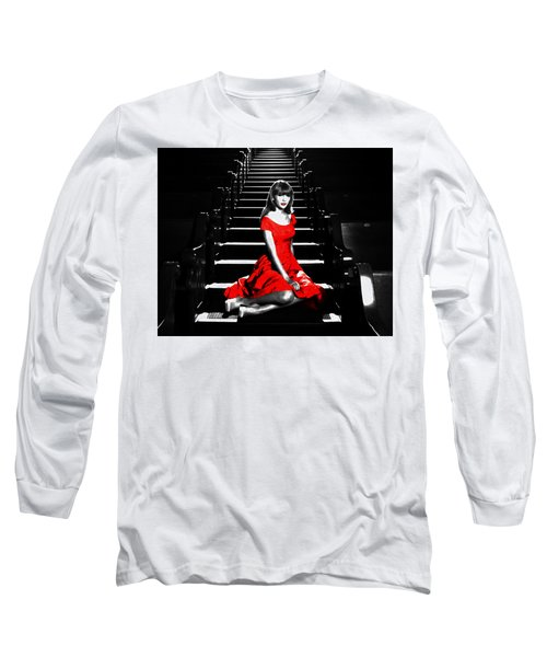 Taylor Swift 8c Long Sleeve T-Shirt by Brian Reaves