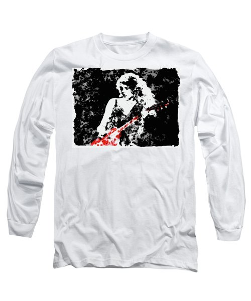 Taylor Swift 90c Long Sleeve T-Shirt by Brian Reaves
