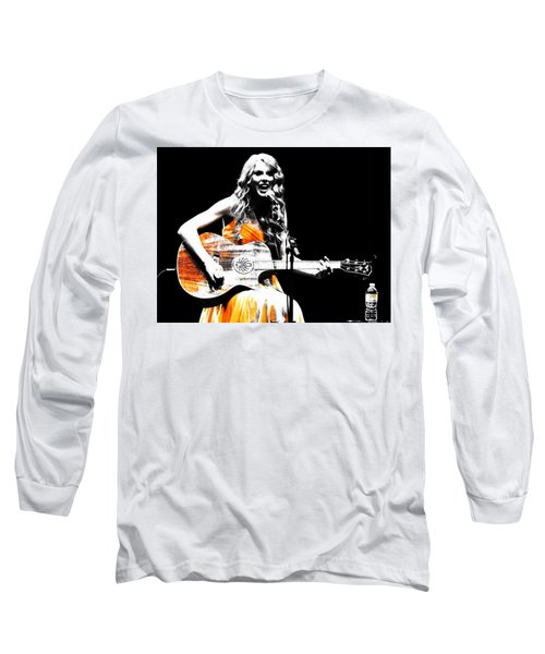 Taylor Swift 9s Long Sleeve T-Shirt by Brian Reaves