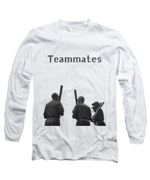Teammates Poster - Boston Red Sox Long Sleeve T-Shirt by Joann Vitali