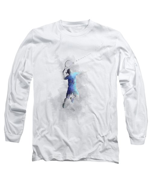 Tennis Player Long Sleeve T-Shirt by Marlene Watson