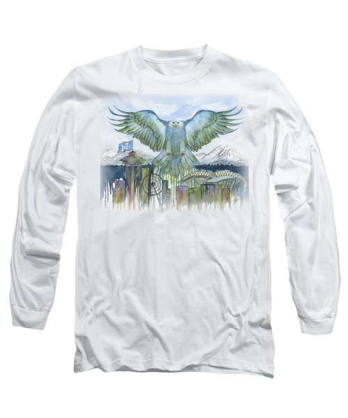 The Blue And Green Long Sleeve T-Shirt by Julie Senf