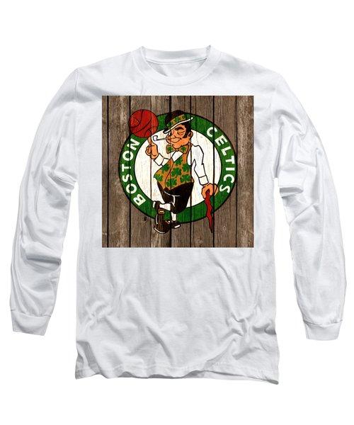The Boston Celtics 2b Long Sleeve T-Shirt by Brian Reaves