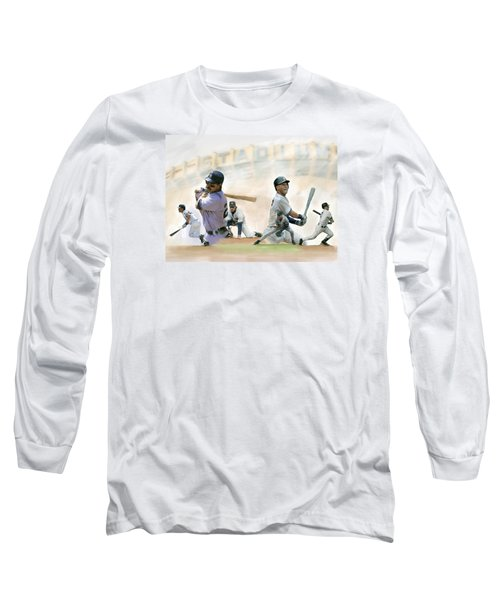 The Captains II Don Mattingly And Derek Jeter Long Sleeve T-Shirt by Iconic Images Art Gallery David Pucciarelli