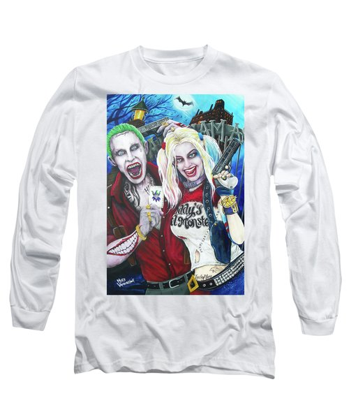 The Joker And Harley Quinn Long Sleeve T-Shirt by Michael Vanderhoof