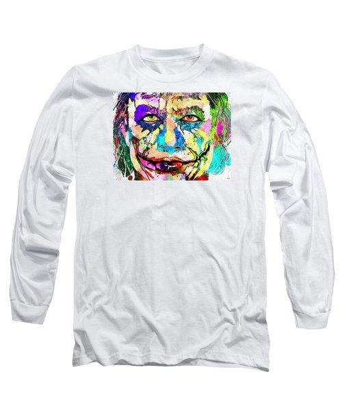 The Joker Grunge Long Sleeve T-Shirt by Daniel Janda