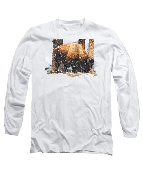 The Majestic Bison Long Sleeve T-Shirt by Image Takers Photography LLC - Carol Haddon