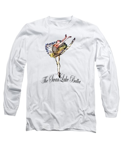 The Swan Lake Ballet Long Sleeve T-Shirt by Marie Loh