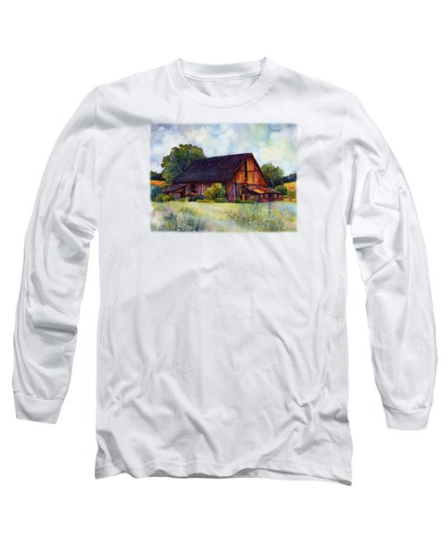 This Old Barn Long Sleeve T-Shirt by Hailey E Herrera