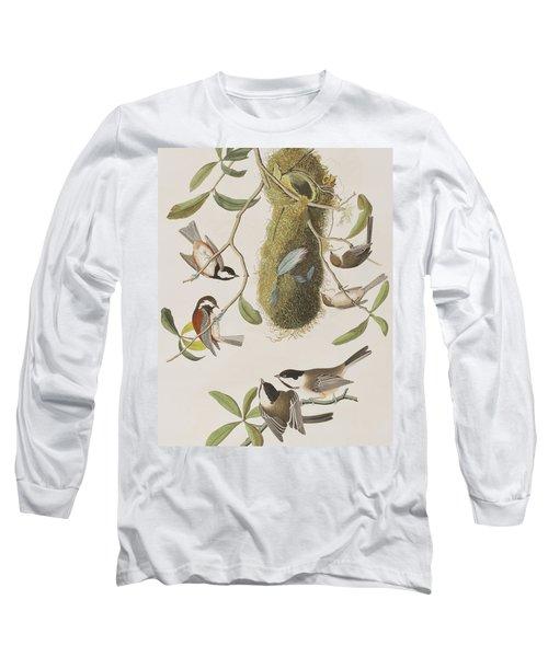 Titmouses Long Sleeve T-Shirt by John James Audubon