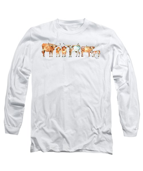 Together We Stand Watercolor Painting By Kmcelwaien Long Sleeve T-Shirt by Kathleen McElwaine