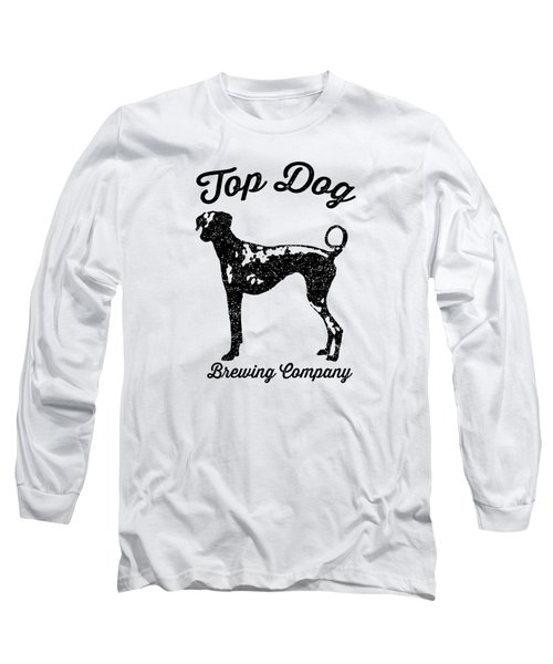 Top Dog Brewing Company Tee Long Sleeve T-Shirt by Edward Fielding