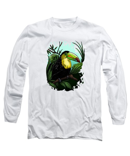 Toucan Long Sleeve T-Shirt by Adam Santana