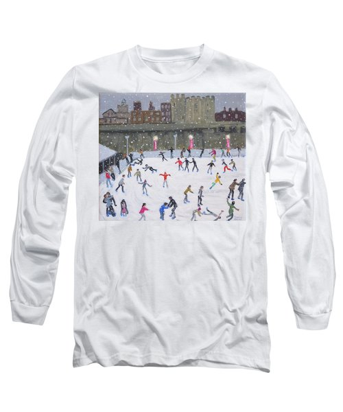 Tower Of London Ice Rink Long Sleeve T-Shirt by Andrew Macara