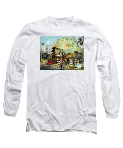 Transcontinental Railroad Long Sleeve T-Shirt by War Is Hell Store