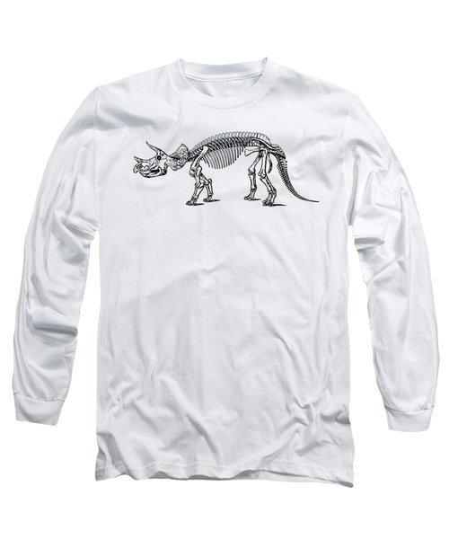 Triceratops Dinosaur Tee Long Sleeve T-Shirt by Edward Fielding