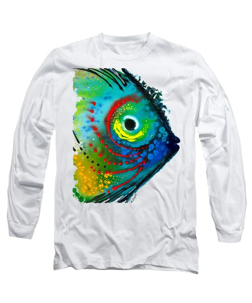 Tropical Fish - Art By Sharon Cummings Long Sleeve T-Shirt by Sharon Cummings