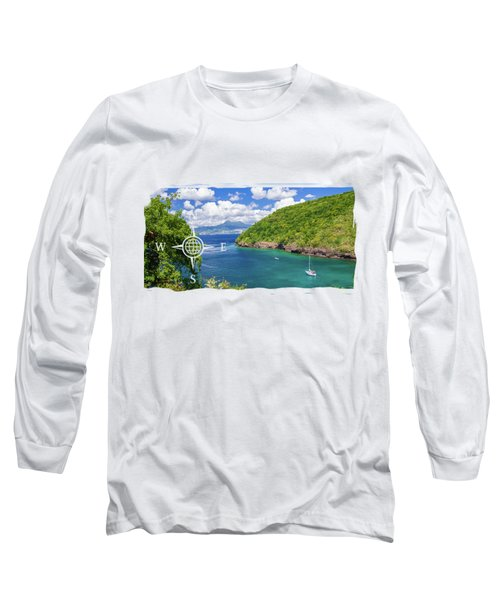 Tropical Lagoon Long Sleeve T-Shirt by Konstantin Sevostyanov