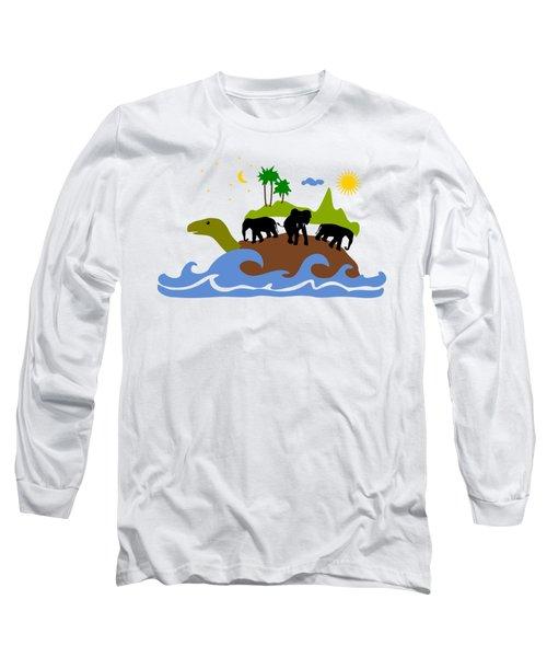 Turtles All The Way Down Long Sleeve T-Shirt by Anastasiya Malakhova