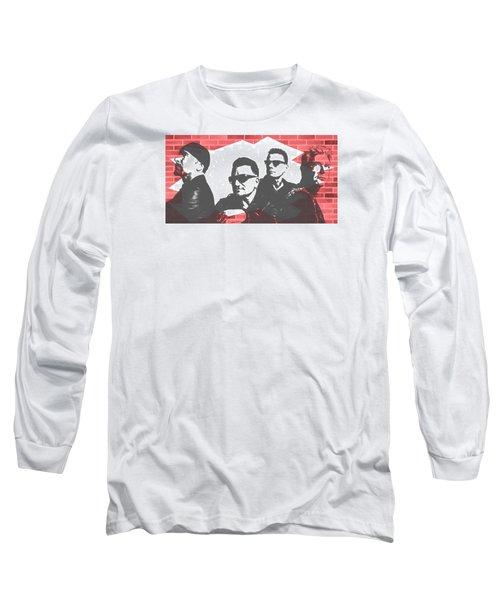 U2 Graffiti Tribute Long Sleeve T-Shirt by Dan Sproul