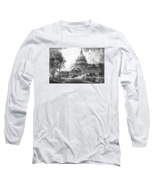 United States Capitol Building Long Sleeve T-Shirt by War Is Hell Store