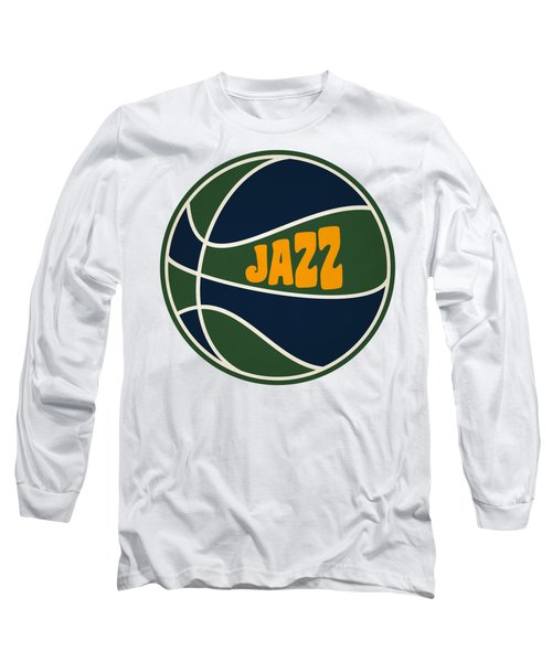 Utah Jazz Retro Shirt Long Sleeve T-Shirt by Joe Hamilton