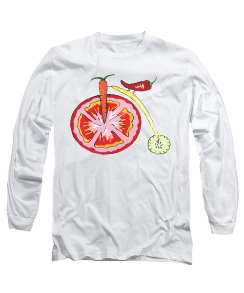 Veggie Bike Long Sleeve T-Shirt by Kathleen Sartoris
