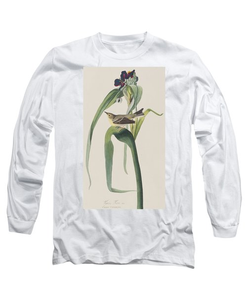 Vigor's Warbler Long Sleeve T-Shirt by John James Audubon