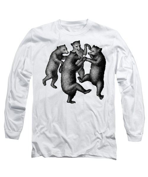 Vintage Dancing Bears Long Sleeve T-Shirt by Edward Fielding