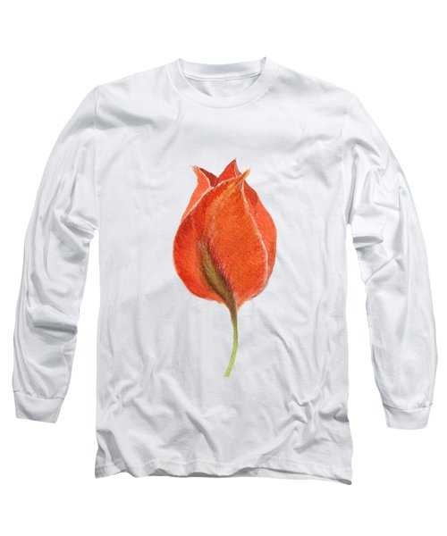 Vintage Tulip Watercolor Phone Case Long Sleeve T-Shirt by Edward Fielding