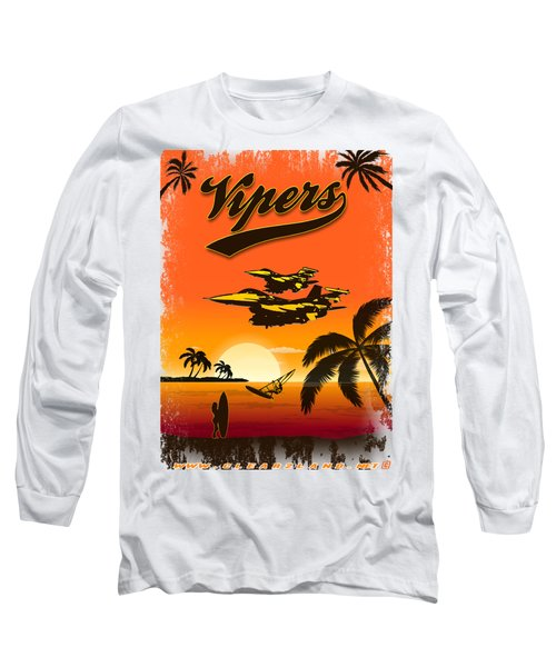 Vipers  F16 Long Sleeve T-Shirt by Clear II land Net