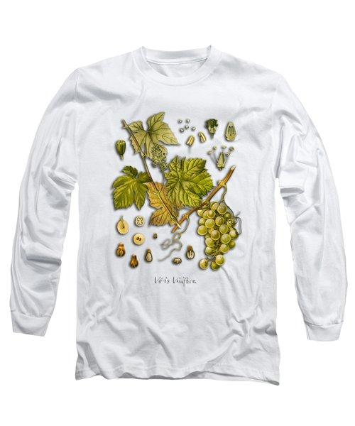 Vitis Vinifera Long Sleeve T-Shirt by Justyna JBJart