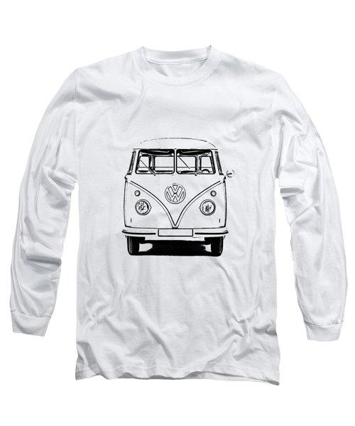 Vw Bus T-shirt Long Sleeve T-Shirt by Edward Fielding