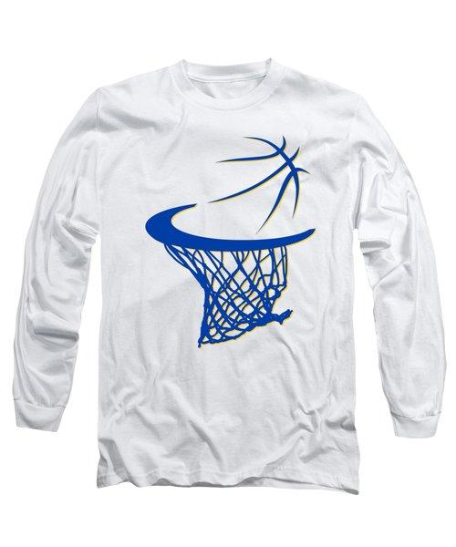 Warriors Basketball Hoop Long Sleeve T-Shirt by Joe Hamilton