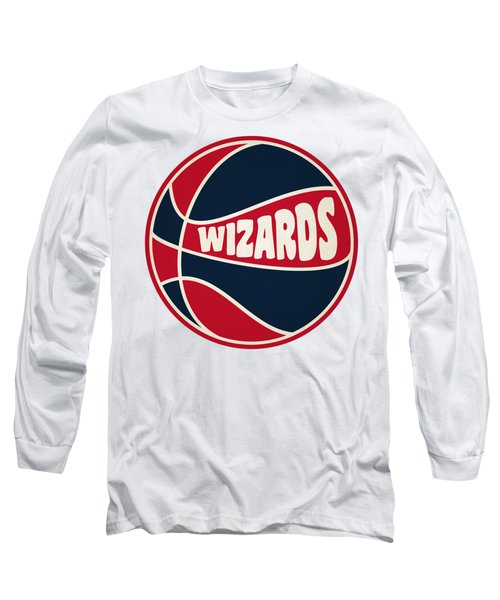 Washington Wizards Retro Shirt Long Sleeve T-Shirt by Joe Hamilton