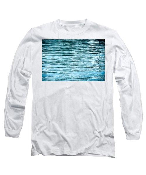 Water Flow Long Sleeve T-Shirt by Steve Gadomski