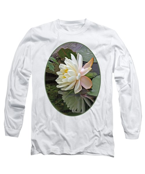 Water Lily Reflections Long Sleeve T-Shirt by Gill Billington