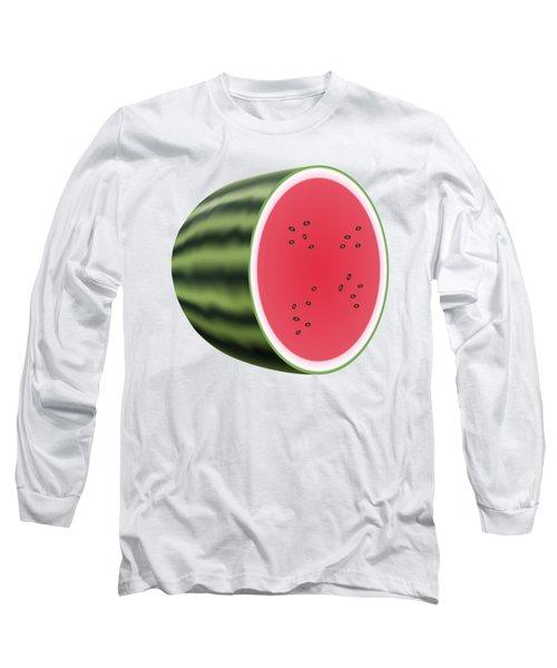 Water Melon Long Sleeve T-Shirt by Miroslav Nemecek
