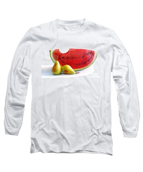 Watermelon And Pears Long Sleeve T-Shirt by Carlos Caetano