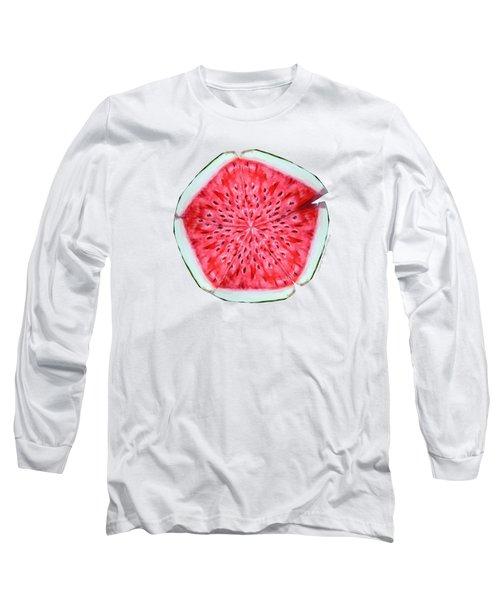 Watermelon Star Wheel Long Sleeve T-Shirt by Shana Rowe Jackson