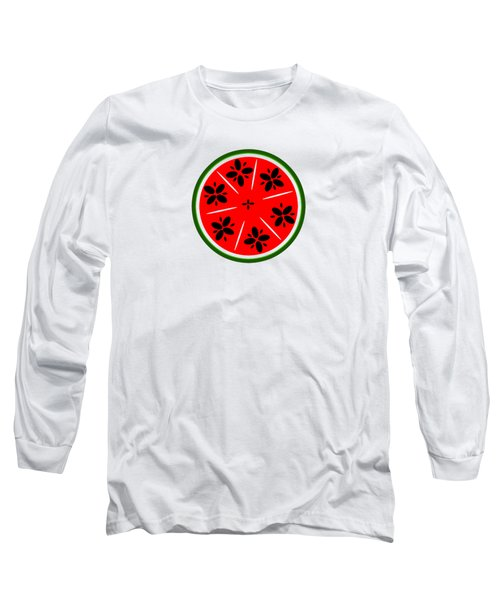 Watermelon Summer Long Sleeve T-Shirt by Chastity Hoff