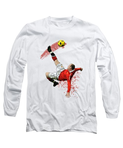 Wayne Rooney Long Sleeve T-Shirt by Armaan Sandhu