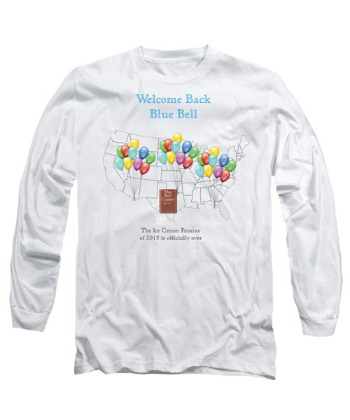 Welcome Back Blue Bell Long Sleeve T-Shirt by Jacquie King