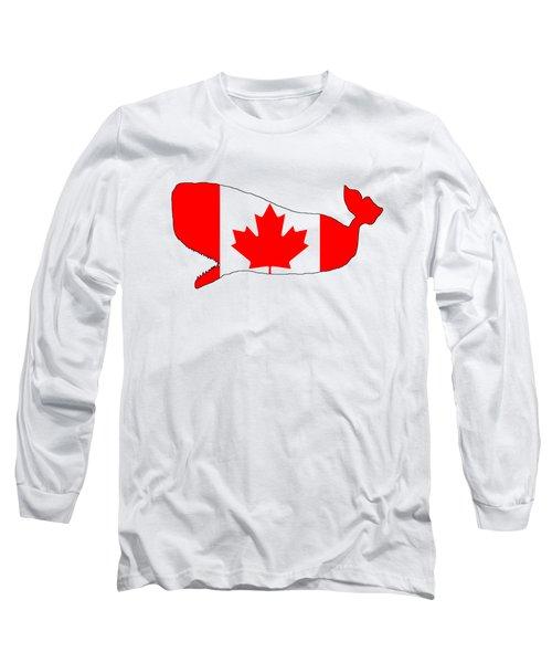 Whale Canada Long Sleeve T-Shirt by Mordax Furittus