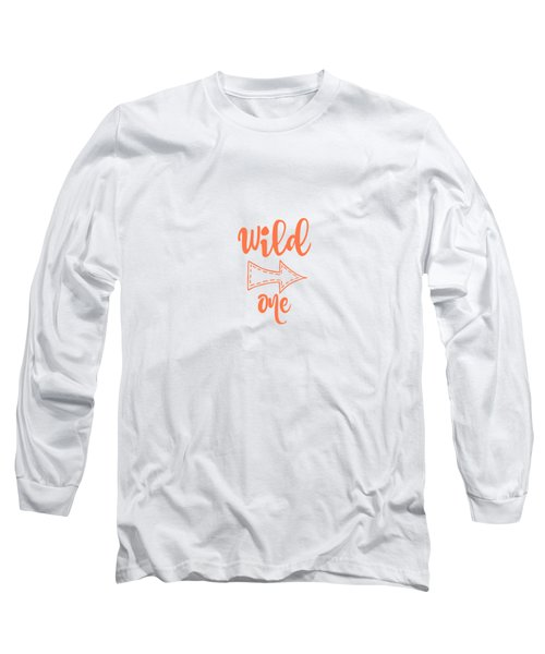 Wild One In Peach Long Sleeve T-Shirt by Chastity Hoff