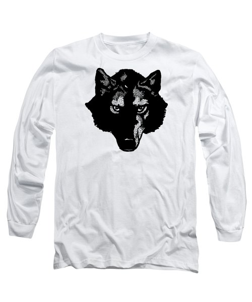 Wolf Tee Long Sleeve T-Shirt by Edward Fielding