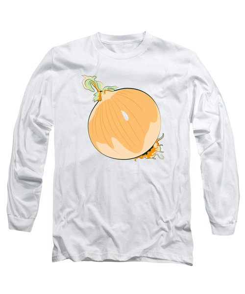Yellow Onion Long Sleeve T-Shirt by MM Anderson