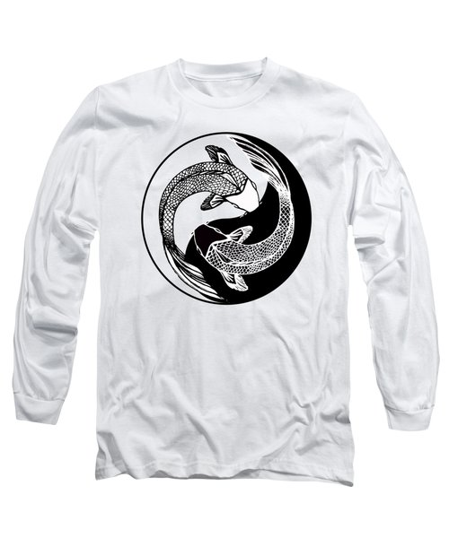 Yin Yang Fish Long Sleeve T-Shirt by Stephen Humphries